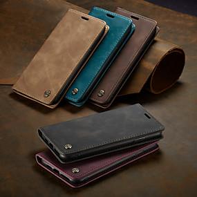 povoljno Telefoni i pribor-slučaj caseme magnetski flip novčanik telefon slučajevima retro čvrste boje tvrdi poklopac utora za kartice sa stalkom za iphone x / xs max / xr / 7/8 plus / 6 / 6s plus / 5 / 5s / se