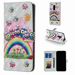 お買い得  新着アイテム-ケース 用途 Samsung Galaxy S9 Plus / S8 Plus ウォレット / カードホルダー / スタンド付き フルボディーケース 動物 ハード PUレザー のために S9 / S9 Plus / S8 Plus