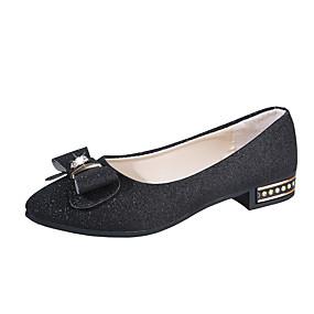 voordelige Damesschoenen met platte hak-Dames PU Lente zomer Platte schoenen Blokhak Zwart / Zilver / Paars