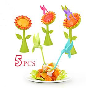 voordelige Bestek-Muovi Informeel Fruitvork, Hoge kwaliteit 5 stuks