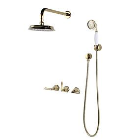 cheap Shower Faucets-Shower Faucet - Contemporary / Antique Multi-Ply Other Ceramic Valve Bath Shower Mixer Taps