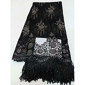 povoljno Novo u ponudi-Afrička čipka Cvjetnih Uzorak 125 cm širina tkanina za Posebne prilike prodan od 5Yard