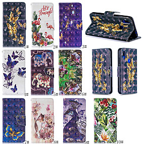 cheap iPhone Cases-Case For Apple iPhone XS Max / iPhone X with Stand / Wallet / Card Holder Full Body Cases Animal / Flower Hard PU Leather/6plus/6S PLUS/7/8/7 plus/8 plus/X/XS/XR/XS MAX all-inclusive mobile phone case