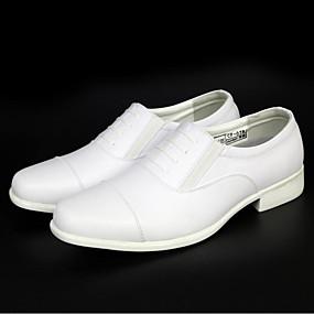 baratos Oxfords Masculinos-Homens Sapatos formais Sintéticos Primavera Verão Negócio Oxfords Branco