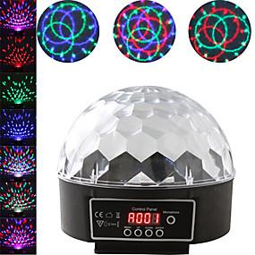 economico Luci LED per mobili-1 set led luce del palcoscenico dmx512 controllo del suono controllo colorato palla magica rotante luce bar dj luce