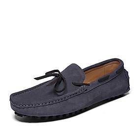 baratos Sapatos Náuticos Masculinos-Homens Sapatos Confortáveis Camurça Primavera Verão Sapatos de Barco Respirável Preto / Castanho Escuro / Azul Escuro