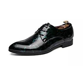 baratos Oxfords Masculinos-Homens Sapatos Confortáveis Couro Envernizado Verão Casual Oxfords Respirável Vermelho / Verde / Azul