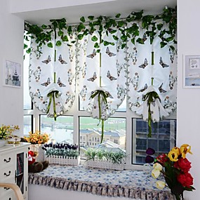 cheap Free Shipping-Contemporary One Panel Sheer Bedroom   Curtains