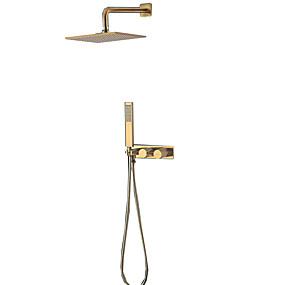 cheap Shower Faucets-Shower Faucet - Contemporary Ti-PVD Other Ceramic Valve Bath Shower Mixer Taps
