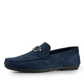 baratos Sapatos Náuticos Masculinos-Homens Sapatos Confortáveis Camurça Primavera Verão Sapatos de Barco Respirável Cinzento / Azul / Khaki