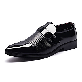 cheap Men's Shoes-Men's Comfort Shoes Leather Spring & Summer / Fall & Winter Loafers & Slip-Ons Black / Brown / Party & Evening