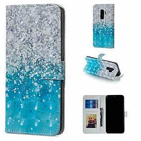 お買い得  新着アイテム-ケース 用途 Samsung Galaxy S9 Plus / S8 Plus ウォレット / カードホルダー / スタンド付き フルボディーケース 風景 ハード PUレザー のために S9 / S9 Plus / S8 Plus