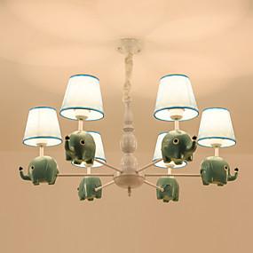 povoljno Kids Room-6 svjetla lustera / moderne prirodne privjesak svjetla za spavaću sobu dnevni boravak dječja soba 110-120v / 220-240v / e26 e27 bez žarulje lijepa slatka svjetla
