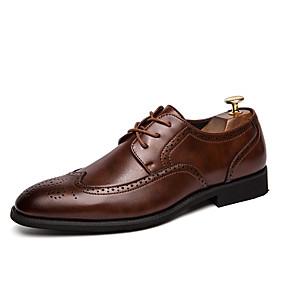 رخيصةأون أحذية أوكسفورد للرجال-رجالي أحذية رسمية PU للربيع والصيف / خريف & شتاء الأعمال التجارية / كاجوال أوكسفورد غير الانزلاق أسود / بني / الحفلات و المساء