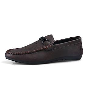 baratos Sapatilhas e Mocassins Masculinos-Homens Sapatos Confortáveis Microfibra Verão Negócio / Casual Mocassins e Slip-Ons Caminhada Respirável Preto / Vermelho