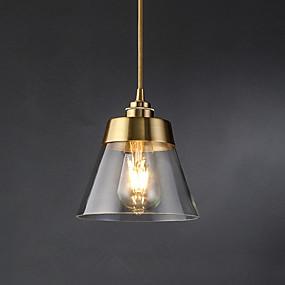 abordables Plafonniers-Cône Lampe suspendue Lumière d'ambiance Plaqué Verre Verre 110-120V / 220-240V
