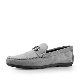 baratos Sapatos Náuticos Masculinos-Homens Sapatos Confortáveis Camurça Primavera Verão Sapatos de Barco Respirável Preto / Azul / Cinzento