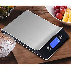 رخيصةأون وصل حديثاً-5 جرام -5 كيلوجرام الرقمية مقياس الطبخ أداة المقاوم للصدأ مقياس الالكترونية وزن مقياس شاشة lcd مطبخ مقياس