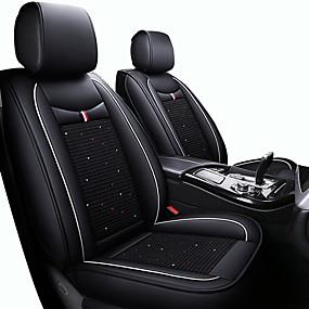 abordables Nouvelles arrivées en août-coussins mignons de siège de voiture de dessin animé noir / rouge / noir / blanc / noir / bleu d'unité centrale cuir / similicuir pour universel toutes les années cinq sièges