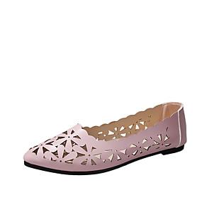 voordelige Damesschoenen met platte hak-Dames PU Lente zomer Platte schoenen Platte hak Zwart / Beige / Roze