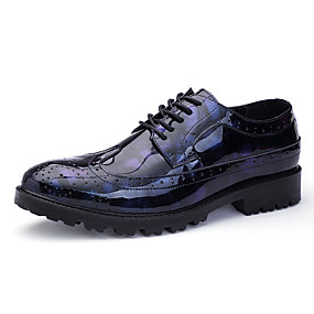 cheap Men's Oxfords-Men's Formal Shoes PU(Polyurethane) Spring & Summer / Fall & Winter Business / Casual Oxfords Non-slipping Gray / Black / Blue / Party & Evening
