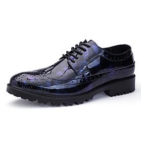 رخيصةأون أحذية أوكسفورد للرجال-رجالي أحذية رسمية PU للربيع والصيف / خريف & شتاء الأعمال التجارية / كاجوال أوكسفورد غير الانزلاق رمادي / أسود / أزرق / الحفلات و المساء