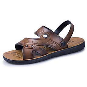 3f4021534aa2 Men's Comfort Shoes PU(Polyurethane) Summer Casual Sandals Walking Shoes  Breathable Brown / Khaki