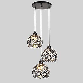 billige Hengelamper-3-Light Øy / Lanterne Anheng Lys Omgivelseslys Malte Finishes Metall Kreativ, Justerbar, Bedårende 110-120V / 220-240V