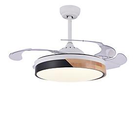 povoljno Stropni ventilatori-QINGMING® Cirkularno / Mini Stropni ventilator Ambient Light Slikano završi Metal Wood / Bamboo LED, Trobojni 110-120V / 220-240V Topla bijela i bijela