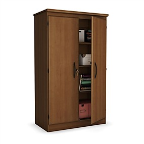 cheap Bedroom Furniture-Cherry 2-Door Storage Cabinet Wardrobe Armoire for Bedroom Living Room or Home Office