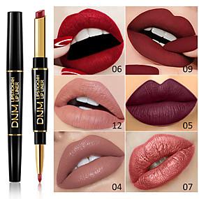 cheap Makeup and Beauty-Brand DNM Double Head Lipstick Lip Liner Multi-Function Pearl Matte Lipstick Pen Waterproof Long-Lasting Lip Makeup