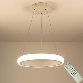 abordables Plafonniers-Les lustres modernes allument la lumière des lampes suspendues acryliques suspendues au plafond des lampes suspendues en acrylique pour la maison intérieure avec télécommande 110-120v / 220-240v