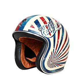 abordables Nouvelles arrivées en août-casque de moto vintage unisexe casque à face ouverte casque intégré
