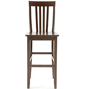 cheap Kitchen & Dining Furniture-Set of 2 - Solid Hardwood 30-inch Bar Stools in Wood Mahogany Finish