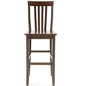povoljno Namještaj za kuhinju i blagavaonicu-set od 2 - čvrste tvrdo drvo 30-inčni bar stolice u drvu mahagonija završiti