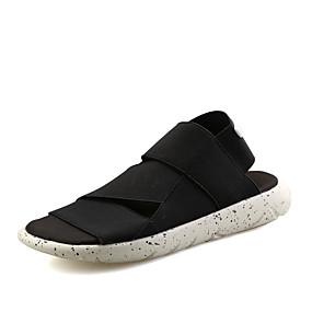 baratos Sandálias Masculinas-Homens Sapatos Confortáveis Lona Verão / Primavera Verão Casual Sandálias Respirável Preto / Branco / Preto / Roxo