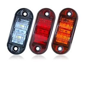 povoljno Svjetla upozorenja-sencart 2pcs 12v 24v amber žuto bijelo crveno dsside svjetlo vodio marker prikolica kamion okrenuti čišćenje svjetiljka