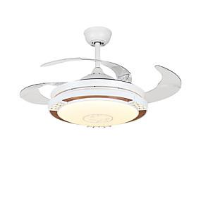 povoljno Stropni ventilatori-QINGMING® Cirkularno / Mini Stropni ventilator Ambient Light Electroplated Metal Mini Style, Trobojni 110-120V / 220-240V Topla bijela i bijela
