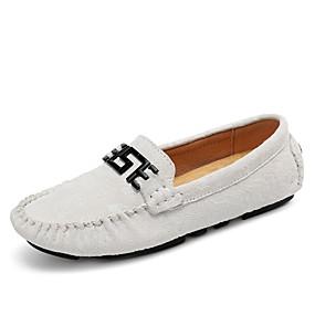 voordelige Damesinstappers & loafers-Dames Loafers & Slip-Ons Sportieve look Platte hak Suède Klassiek / Informeel Lente & Herfst / Zomer Rood / Groen / Licht Roze