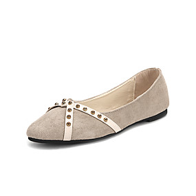 voordelige Damesinstappers & loafers-Dames Loafers & Slip-Ons Platte hak Microvezel / PU Lente & Herfst / Zomer Zwart / Beige / Rood