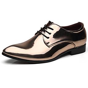 baratos Oxfords Masculinos-Homens Sapatos formais Couro Envernizado Primavera Verão / Outono & inverno Negócio / Formais Oxfords Dourado / Vermelho / Azul / Festas & Noite