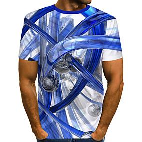 povoljno -0.3-Majica s rukavima Muškarci - Ulični šik / pretjeran Dnevni Nosite / Klub Color block / 3D / Grafika Print Obala US40