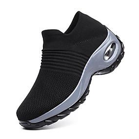 baratos Sapatos Esportivos Femininos-Mulheres Tissage Volant Verão Tênis Salto de bloco Cinzento / Roxo / Vinho