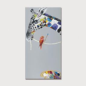 hesapli Hayvan Resimleri-Hang-Boyalı Yağlıboya Resim El-Boyalı - Hayvanlar Modern Iç çerçeve dahil