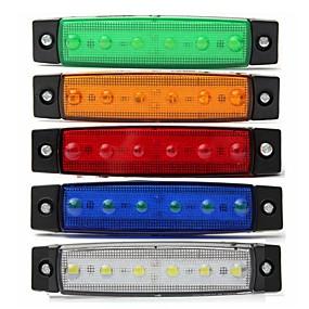 povoljno Svjetla bočnih markera-sencart 4kom bijeli kamion strana markera klirens svjetlo ovalni krom 6 vodio 24v