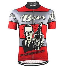 ราคาถูก -0.5-21Grams สำหรับผู้ชาย แขนสั้น Cycling Jersey สีส้มอมแดง+สีเทา Bière จักรยาน Tops ทน UV ระบายอากาศ Moisture Wicking กีฬา Terylene ขี่จักรยานปีนเขา Road Cycling เสื้อผ้าถัก / ผสมยางยืดไมโคร / แห้งเร็ว