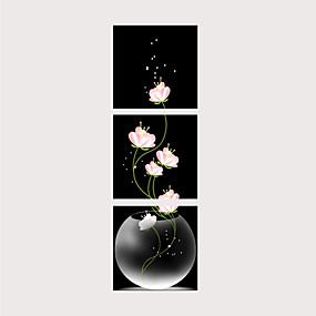 povoljno Trends-Print Rolled Canvas Prints - Botanički Tradicionalno Moderna Tri plohe Umjetničke grafike
