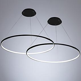 povoljno Viseća rasvjeta-2pcs / lot led40w moderni krug privjesak svjetlo ambijentalno svjetlo oslikana za dnevnu sobu blagovaonica / topla bijela / bijela / dimmable s daljinskim / WiFi pametna kontrola / 110-120v / 220-240v