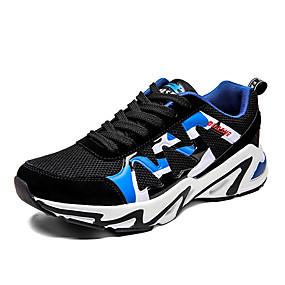 baratos Sapatos Esportivos Masculinos-Homens Sapatos Confortáveis Lona / Poliester Primavera Verão / Outono & inverno Esportivo / Casual Tênis Corrida / Fitness Respirável Slogan Preto / Preto / Vermelho / Black / azul