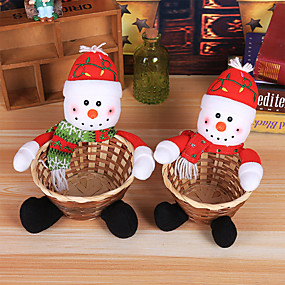 Holiday Decorations New Year's Decorative Objects Decorative Purple / Red / Silver 1pc
